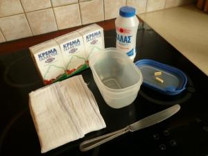 Tout ce dont on a besoin pour faire du beurre